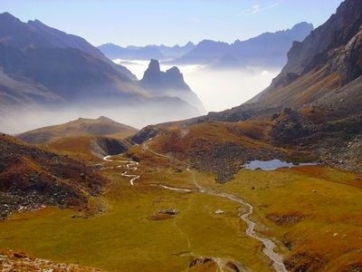 Rocca Provenzale et nebbia (brouillard) Haut Val Maira
