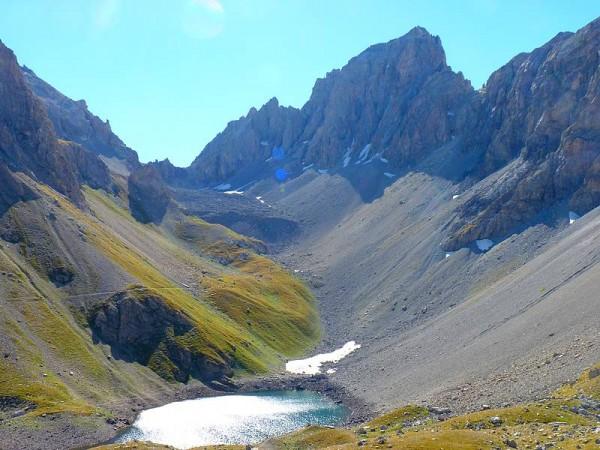 Colle Enchiausa et lac Apsoi  - Haut Val Maira