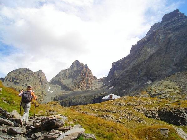 Arrivée au refuge Vallante sous le Viso