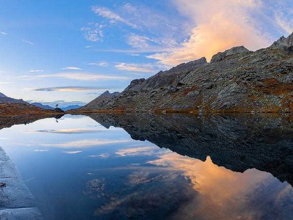 Lac Lestio sous le col Vallanta