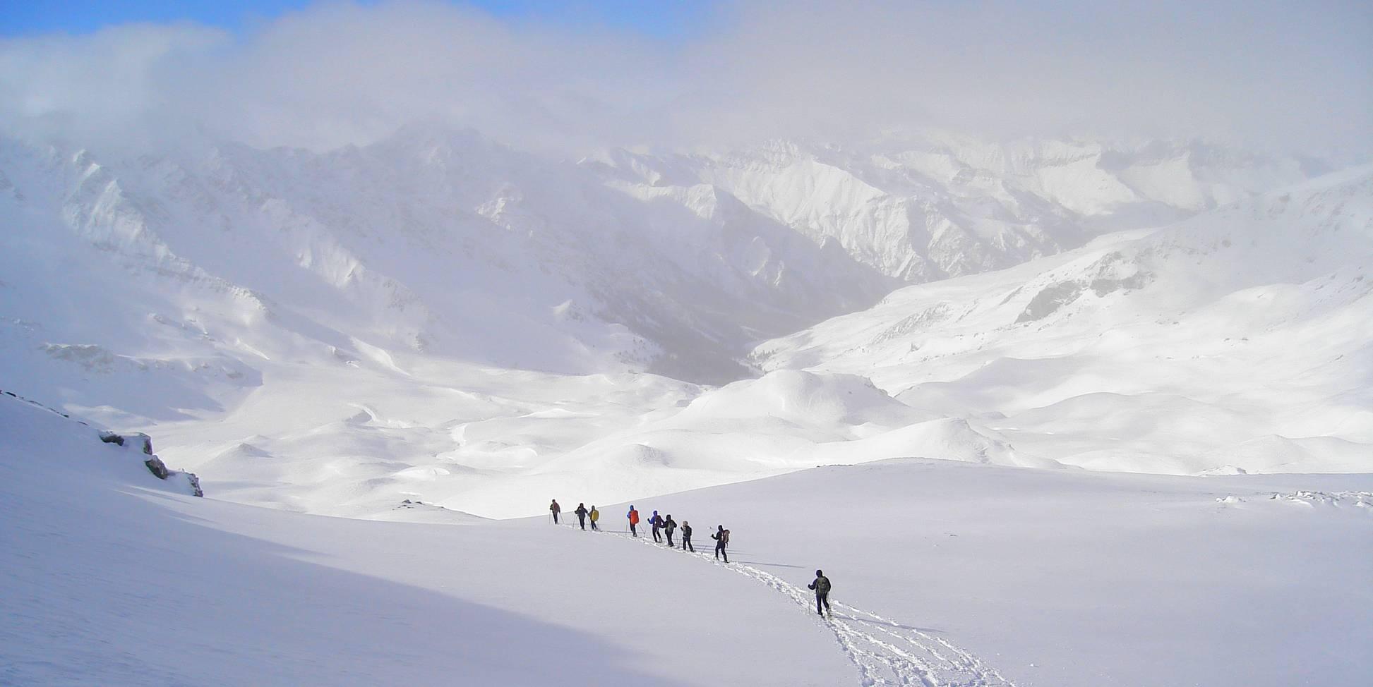 Randonnées raquettes à neige Queyras
